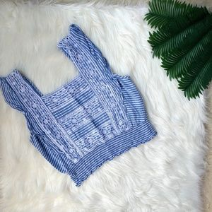 American Eagle Bib Crochet Crop Top